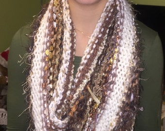 Luxurious Browns Infinity capelet scarf cowl