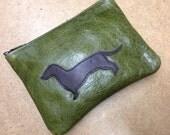 SALE! Dachshund coin purse