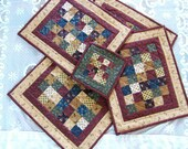 Set of 4 Quilted Place Mats and a Hot Pad