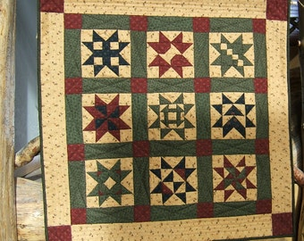 Star Quilt Table Topper or Wall Hanging (Item #43)