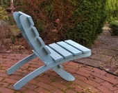 Light Blue Cedar Lounge Chair - Comfy - handcrafted by Laughing Creek
