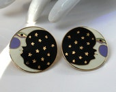 Fun Laurel Burch MOONFACE Earrings Post