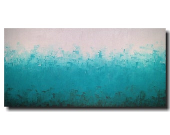Original Large Abstract painting - 24 X 48 Inches-by Artist JMJartstudio-Fresh-Wall art-wall decor --Oil painting-XXL