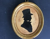 Vintage Gold Framed Sillouette Gentleman