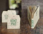 NEW Classiky Kraft Koke Memo Pad Envelopes / Pockets