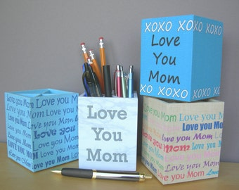 Pencil Cups For Mom, Desk Accessories, Mother's Day Gift, Birthday Gift, Office Organization