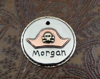Pirates Hat-ID dog tag-custom id tag-skull hat