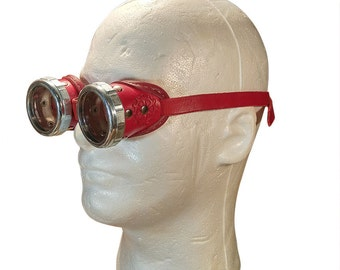Steampunk Leather Welding Goggles