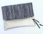 Fold Over Clutch Bag Marimekko Varvunraita Fabric