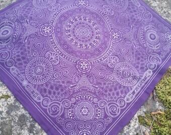 Arcana Bandana - Purple and Silver