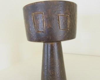 Vintage Modern Japanese Art Pottery Kouzan Ikebana Vase