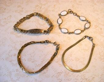 DESTASH Vintage Gold-tone Bracelets, Metal Link Bracelets for Crafts