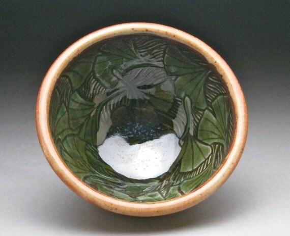 Ceramic Stoneware Ginkgo Leaf Bowl