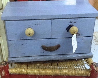 Box with three drawers
