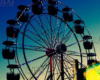 Summer Fair - Ferris Wheel - Fair -  DIGITAL DOWNLOAD