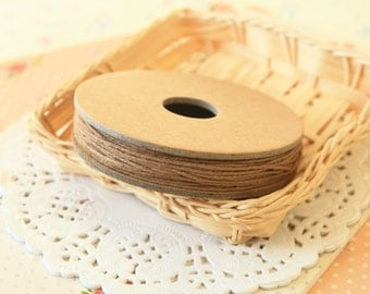 Solid BROWN Divine Twine 20yd Reel 4-ply cotton bakers twine string