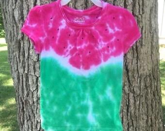 Xs 4 Tie dye watermelon tee shirt