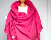 PINK SCARF wrap, blanket pink scarf wrap,  fashion oversized scarf, soft and cozy - SALE 20% off
