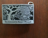 vintage 1970's Legend of Sleepy Hollow belt buckle, made in USA