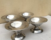 Vintage Sterling Silver Mint Dishes Footed Sterling Cups