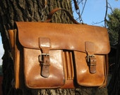 Leather Bag Travel Weekender Carry On Vintage Aged Patina Golden Brown Rustic Distressed Luggage