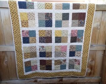 Love 1800 Reproduction Patchwork Lap Quilt