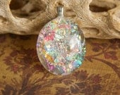 Iridescent Dichroic Glass Pendant