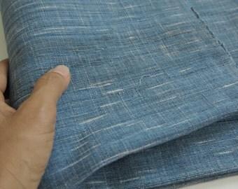 Summer Sale 15% Off - IDHF12: Light Tone Indigo Fabric -  Ikat Pattern (random tie dye)