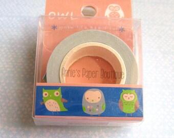 Owl Washi Tape - Navy Blue