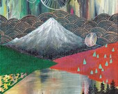 Destiny // eco-friendly wall art mountain print