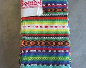 Vintage Fabric Samples from Guatemala Lot of 8 Colorful Hand Woven Cotton