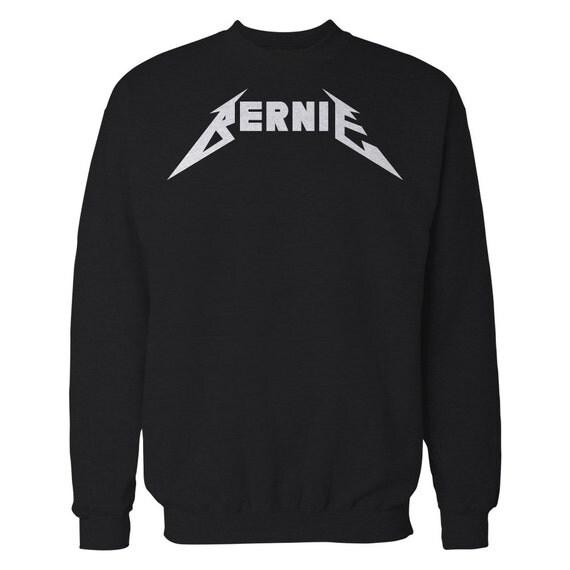 Bernie Enter Sandman Crewneck Sweater. Bernie Sanders Sweatshirt.