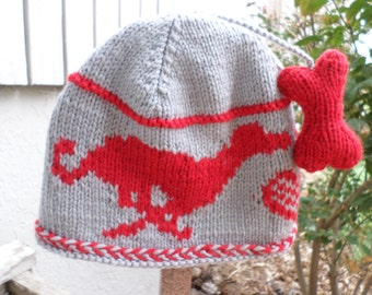 Greyhound and Bone Wool Hat