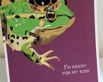 Frog Prince or Princess Valentine's Card