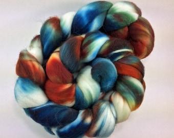Superwash Merino Roving - Clownfish - 108 grams - 3.8 ounces