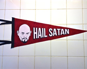 HaIL SaTaN – ANTON LAVEY pennant limited to an edition of 33