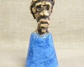 Bell , Ceramic Bell , Handmade , Male Bust , Male Portrait , Sculpture , OOAK , Sculpture , Figural Bell , Ceramics , Pottery , Figurative