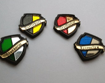 Harry Potter House Shield Pins