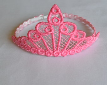 Crown for your Sock Monkey or Sock Animal, Lace Tiara, Color Option