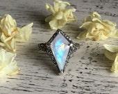 Size 9.75 - Aurora Borealis Ring - OOAK