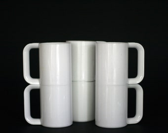 vintage heller maxmug by massimo vignelli white set of six