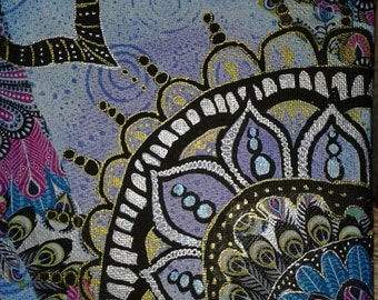 Small Mandala Mixed Media Painting
