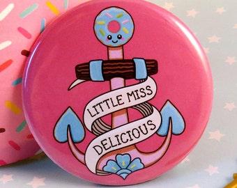 Anchor Fridge Magnet 58mm, fun anchor magnet, kawaii tattoo anchor, cute anchor illustration, kitsch home kitchen decor, cute  fridge magnet