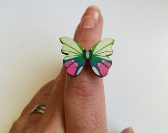 Vintage Style Butterfly Ring