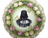 "Darth Vader Portrait Plate - Altered Antique Plate 13.25"""