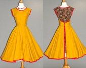 50s Dress, 1950s Full Skirt Rockabilly Dress, 50s Wrap Dress