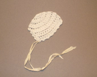 Antique Crochet Doll Bonnet