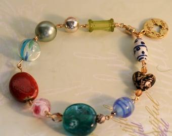 Charity Bracelet. Beaded Bracelet. Link Bracelet. Charm Bracelet. Bracelet for Charity. Beaded Jewelry. Homeless Blessing Bracelet #3