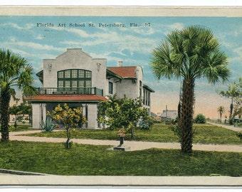 Florida Art School St Petersburg FL 1924 postcard