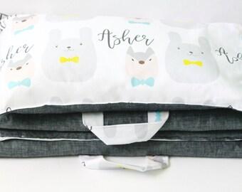 Nap-Mat - Personalized Nap-Mat - Preschool Nap mat - Toddler Nap-Mat -Nap mat with pillowcase -Daycare nap mat -Nap Mat For Boys -Cotton mat
